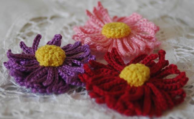 Crochet flower pattern - Flor de ganchillo patrón