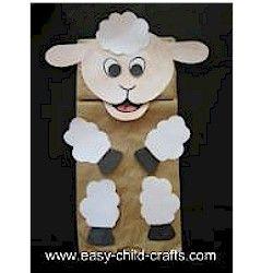 Paper Bag Lamb Puppet Craft