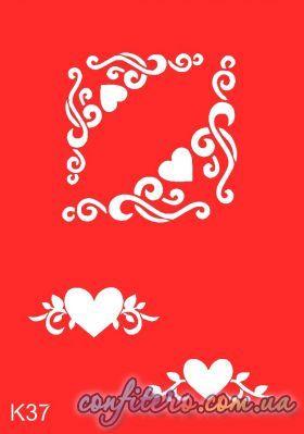 Трафарет многоразовый K37 - Confitero - Имбирные пряники, трафареты для пряников и тортов