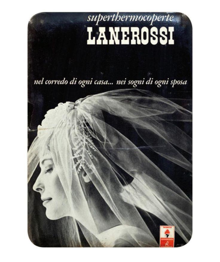 #lastoriaLanerossi Nel corredo di ogni #casa, nei sogni di ogni #sposa. Pubblicità #Lanerossi del 1961. #arredocasa