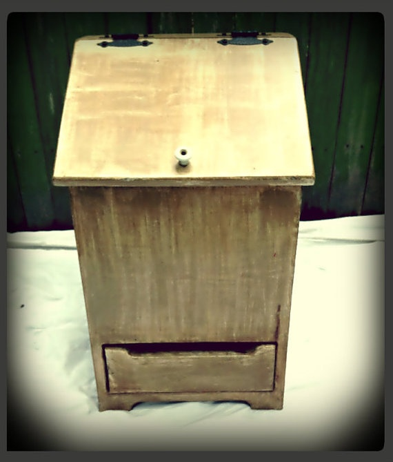 Wooden Potato And Onion Storage Bin Upcycled By