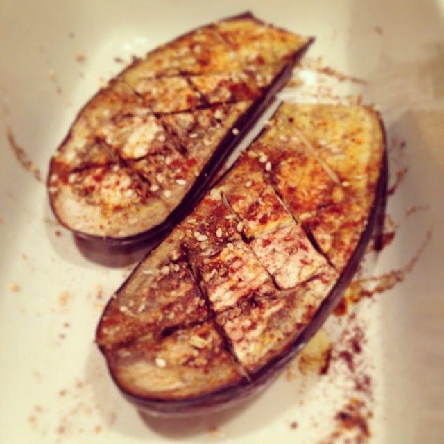 Perfect roasted eggplant!  #eatclean #foodporn #roast #eggplant