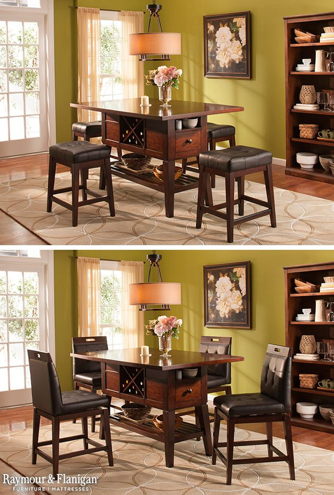 This Danfield 5 Piece Counter Height Dining Set Is Great Because It Comes With