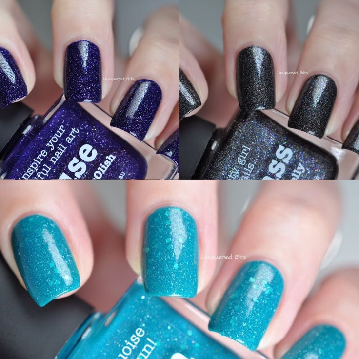 piCture pOlish Fest 2015 = Swatch Collage by @lacqueredbits features Lagoon + Muse + Badass. www.picturepolish.com.au