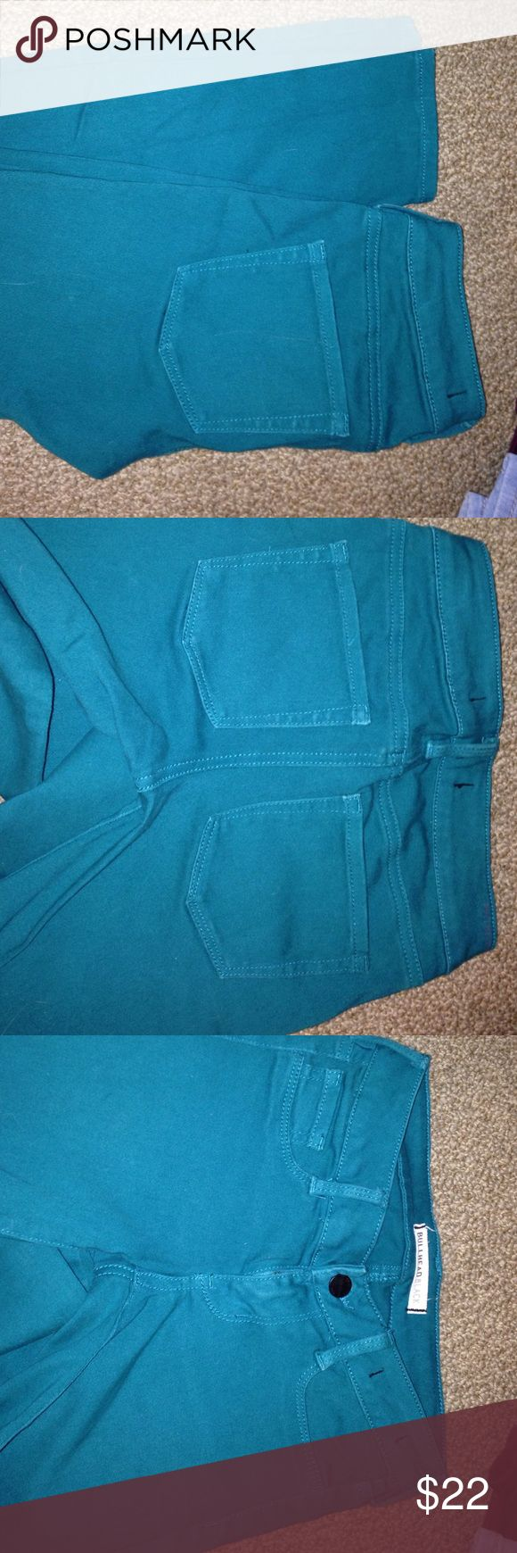 Turquoise jeans Worn only once! Perfect condition& super comfy PacSun Jeans Skinny