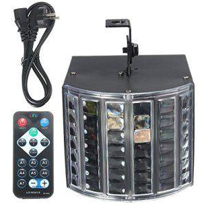 SOLMORE 18W 220V Lampe de Scène DMX512 RGB LED 3 Mode Éclairage avec Télécommande Volume Sonore DJ Atmosphère Projecteur Lumière Ampoule…