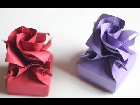 Origami Valentine's rose box instructions (Tadashi Mori)
