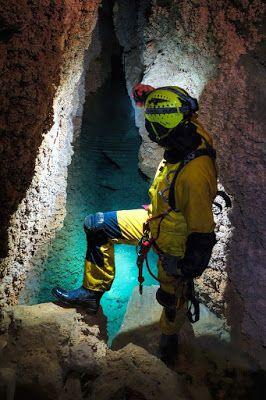 Caving near Drama, Greece