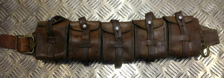 Need Genuine Swedish Army Leather Ammo Pouch Bandolier