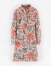NEW BODEN neutral vintage floral cord shirt dress UK 14 US 10