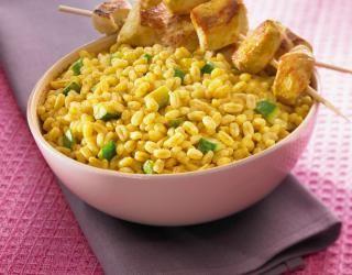Recette - Ebly au curry et au coco   Notée 4/5