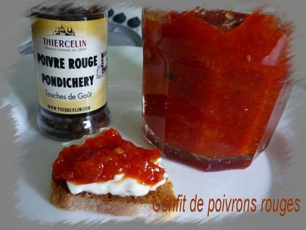 Confit de poivron rouge parfait avec les gressins !