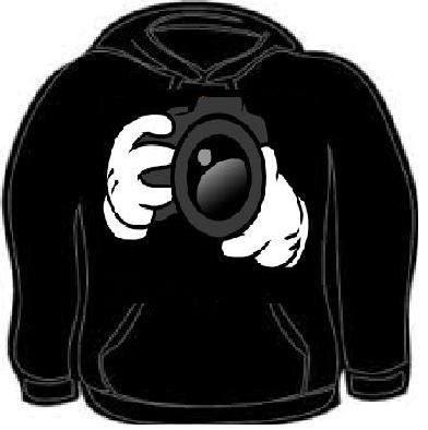 Hoodie cartoons hands i shoot people camera funny hoodies