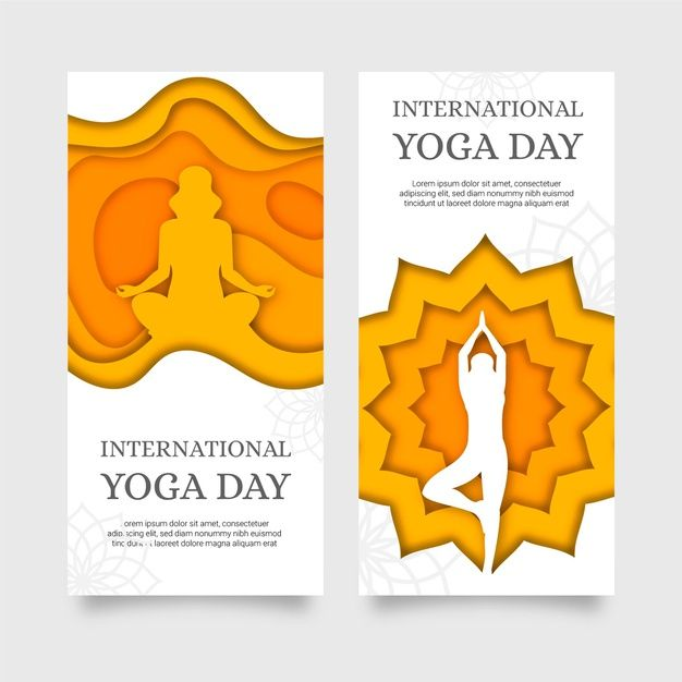 Download International Day Of Yoga Banner In Paper Style For Free In 2020 Vector Free International Day International Yoga Day