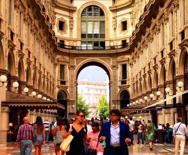 Centre of luxury fashion in Milan - Galleria Vittorio Emanuel II - Italy