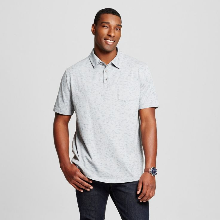 Men's Big & Tall Polo Shirt Gray 5XBT - Mossimo Supply Co., Size: 5XB Tall