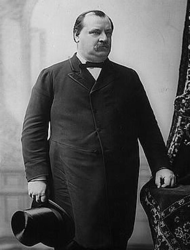 Grover Cleveland - Twenty-Second and Twenty-Fourth President of the United States - Credit: Library of Congress, Prints and Photographs Division, LC-USZ62-7618 DLC
