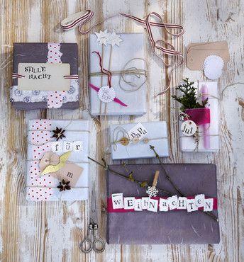 Bastelanleitung: Weihnachtsgeschenke mit Liebe eingepackt
