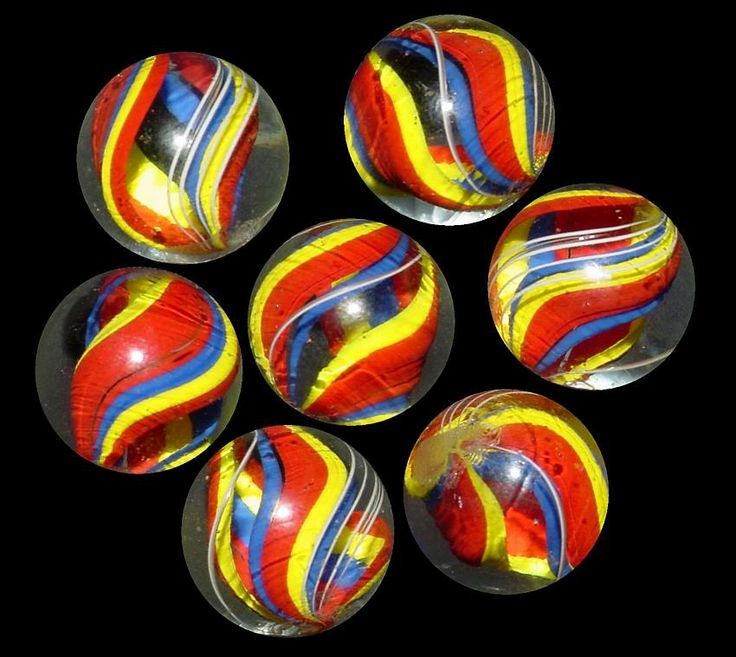Lausch Swirls, or more likely knockoffs made recently -- Lausch never used such bright, zingy colors.