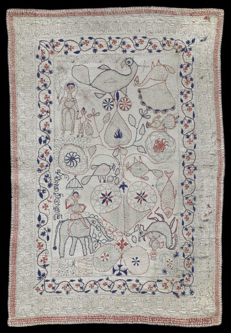 Philadelphia Museum of Art - Collections Object : Kantha (Embroidered Quilt)