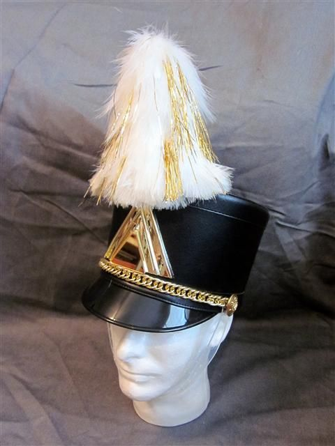 White and Gold Hat Plumes $8.00