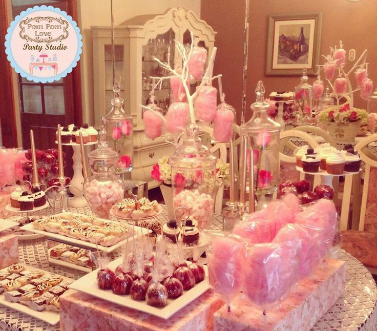 Birthday Table Presentation: 93 Best Party - Cotton Candy Images On Pinterest