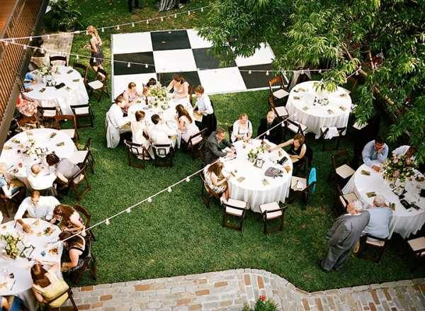 Back Yard Wedding Dance Floor
