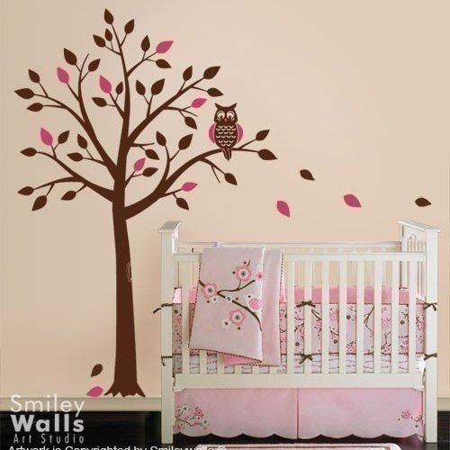 tree wall decals | Tree and Cute Owl - Wall Decal for Nursery | Smileywalls - Children's ...