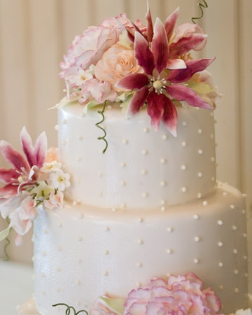 Lovely flowered cake