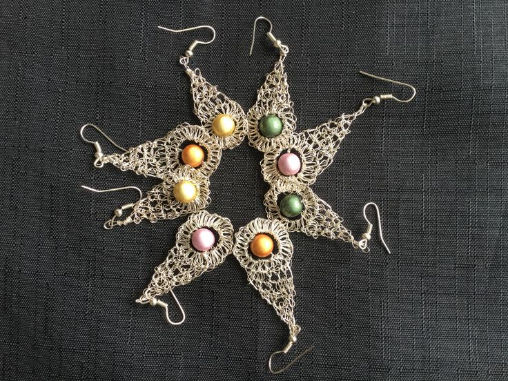 A personal favourite from my Etsy shop https://www.etsy.com/uk/listing/217695384/crochet-earrings-with-silver-plated