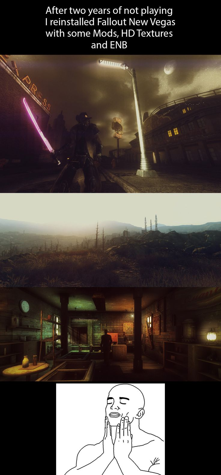 Just reinstalled Fallout New Vegas!