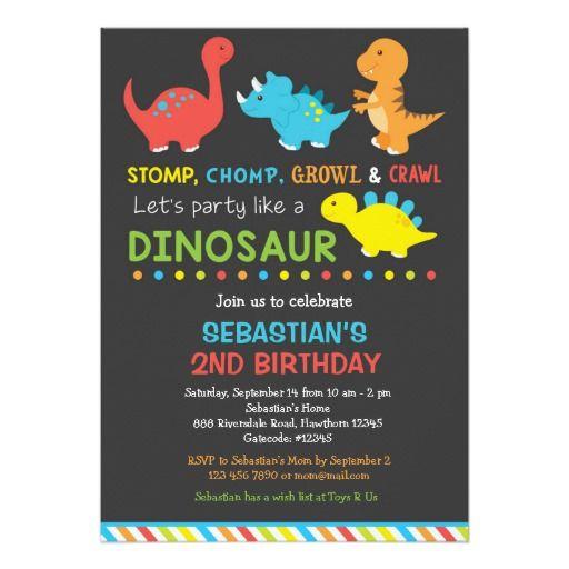Dino birthday invitation, Dinosaur Invitation                                                                                                                                                                                 More