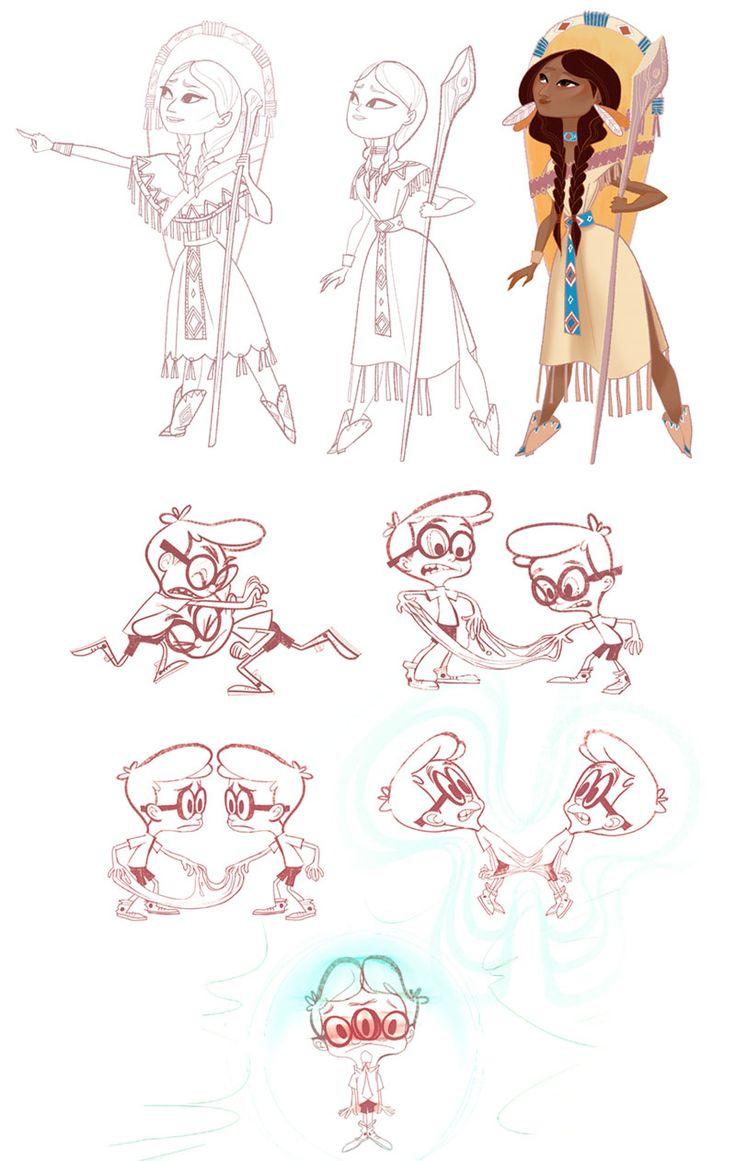 Artes de Priscilla Wong para Mr. Peabody & Sherman | THECAB - The Concept Art Blog