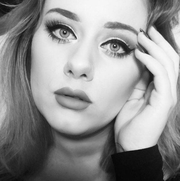 Pin for Later: This Flawless Adele Makeup Look Isn't Actually on Adele's Face