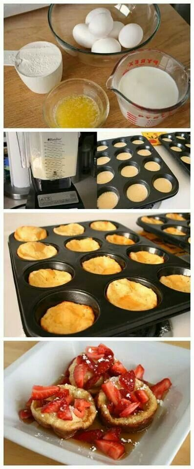 Pop up Pancakes: Greese muffin tin; pour in mix and bake it in the over for 15 mins @400 degrees or until golden brown. Top it with whatever you want! Fruits, jam!
