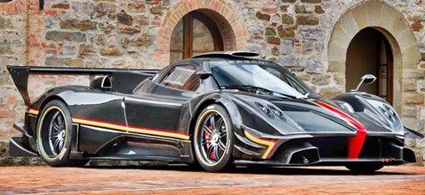 2013 Pagani Zonda Revolucion: 6.0 Liter V12 with 800 Horsepower. 0 to 60 mph in 2.6 seconds. Top Speed of 217 mph.  Est. price $2,882,000.00
