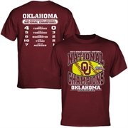 Oklahoma Sooners 2013 NCAA Womens Softball College World Series Champions Score T-Shirt - Crimson