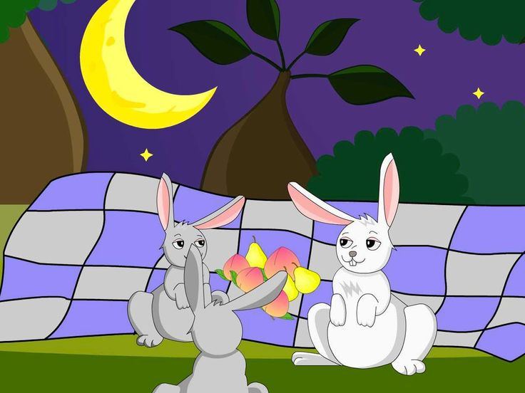 Au clair de la lune, trois petits lapins