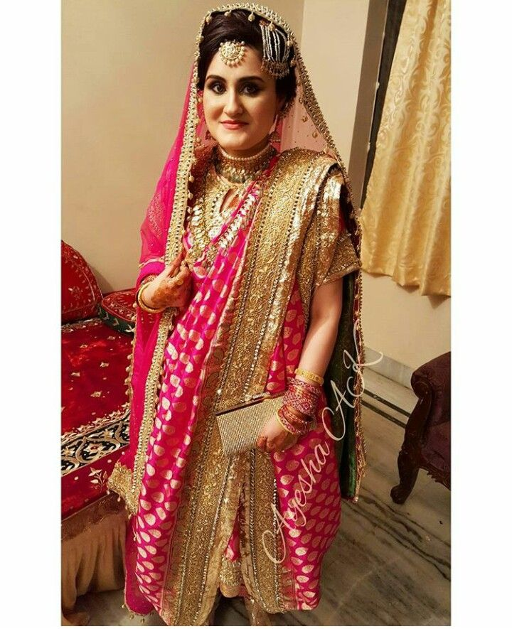 Hyderabadi bride  khada dupatta