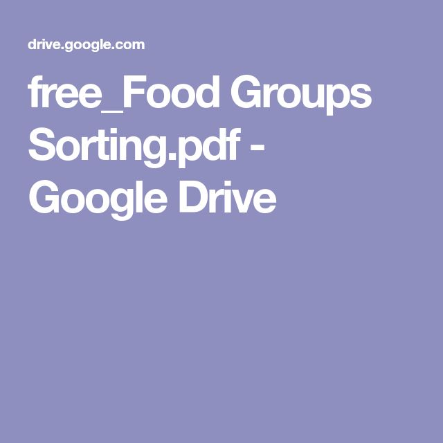 free_Food Groups Sorting.pdf - Google Drive