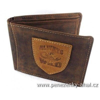 Módní pánská kožená peněženka Alwyas Wild
