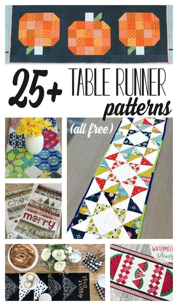 25 Show Stopping Free Table Runner Patterns Table Runner