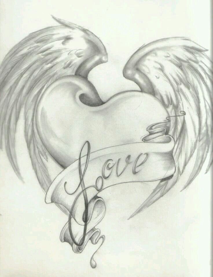 Красивые картинки про любовь для рисования карандашом