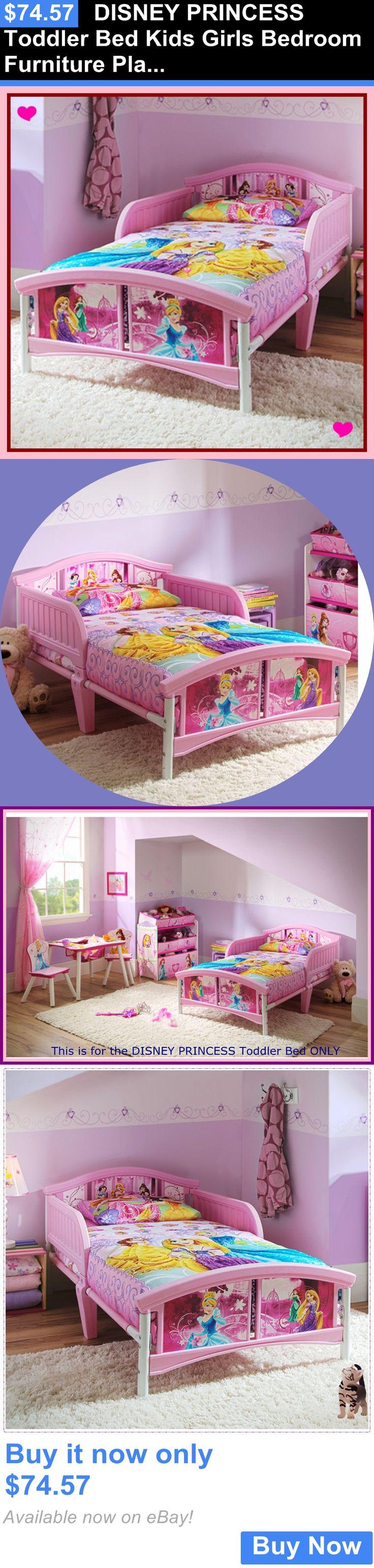 Kids at Home: Disney Princess Toddler Bed Kids Girls Bedroom Furniture Plastic Steel Frame New BUY IT NOW ONLY: $74.57