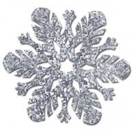 Snowflake Cutout Prismatic Silver $7.95 BE20802-S