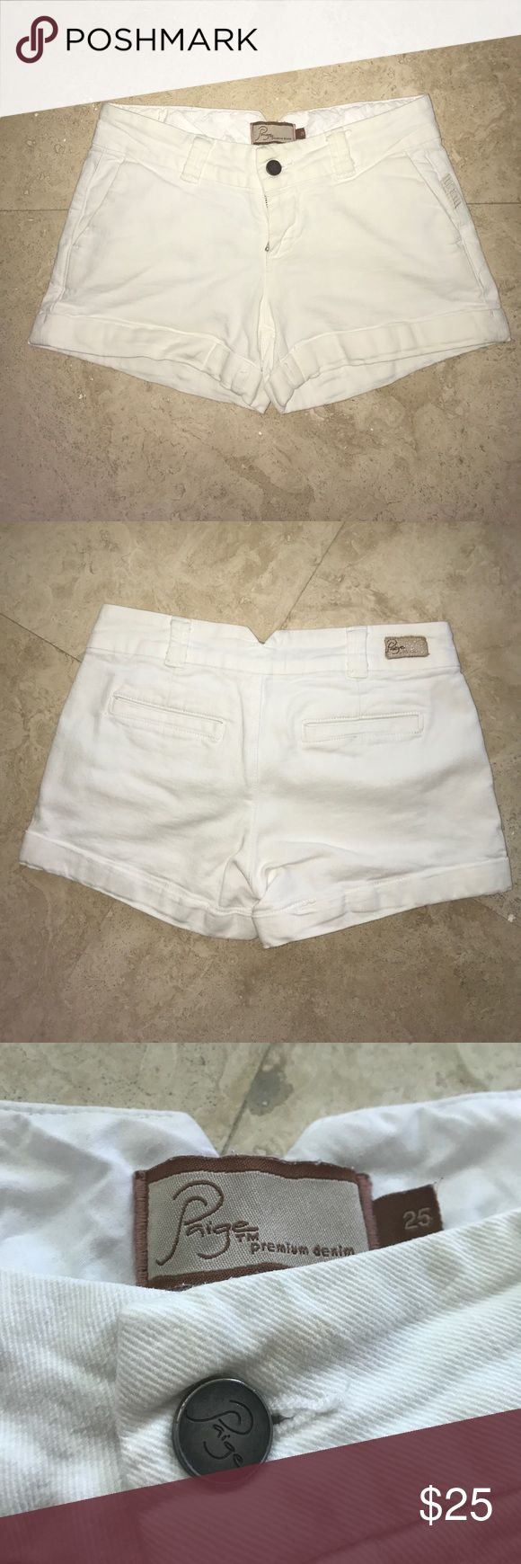 Paige Premium Denim white jean shorts Previously loved. No rips, stains, or odors. 💕 fast shipping 💕 Paige Jeans Shorts Jean Shorts
