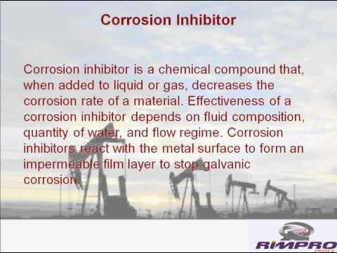 Information video on oil field chemicals including various types of demulsifier, corrosion inhibitor specialty chemicals, surfactant, oil soluble demulsifier, water soluble demulsifier from Rimpro India, Mehsana. For further details on oil field chemicals visit - http://rimpro-india.com/oil-field-chemicals.html