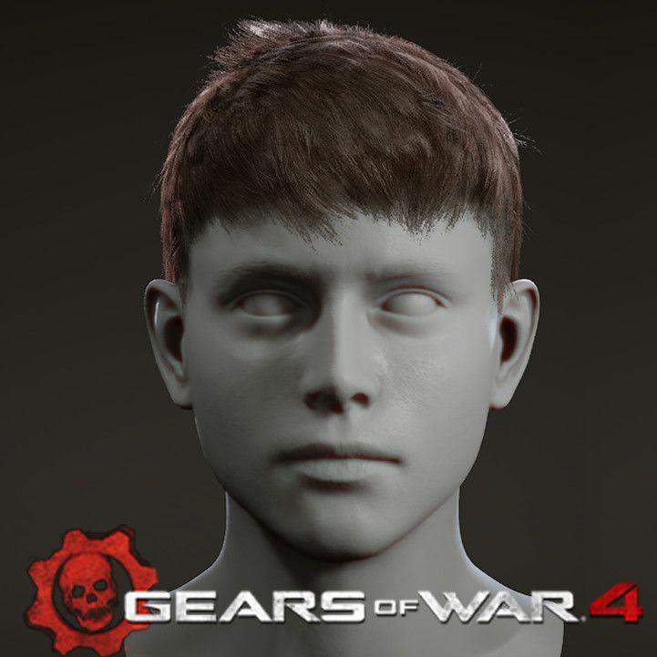 Gears of War 4 Hair, Shifally Rattan on ArtStation at https://www.artstation.com/artwork/Zx8lx