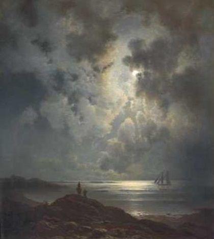 Knud Andreassen Baade (norwegisch, 1808 - 1879) Titel: Ytterst mot havet , 1863