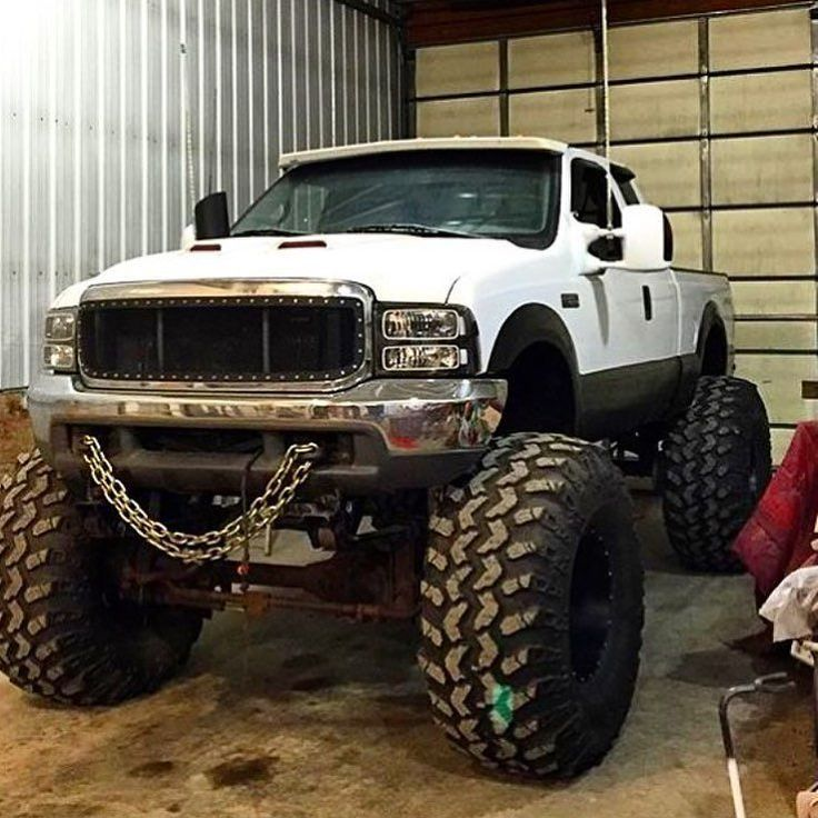 Built lifted Ford truck
